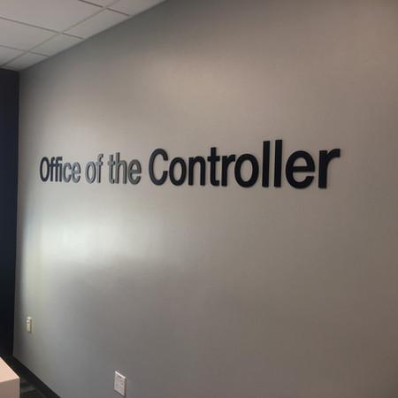 Custom wall lettering