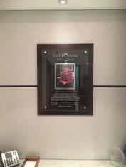 In Memory plaque