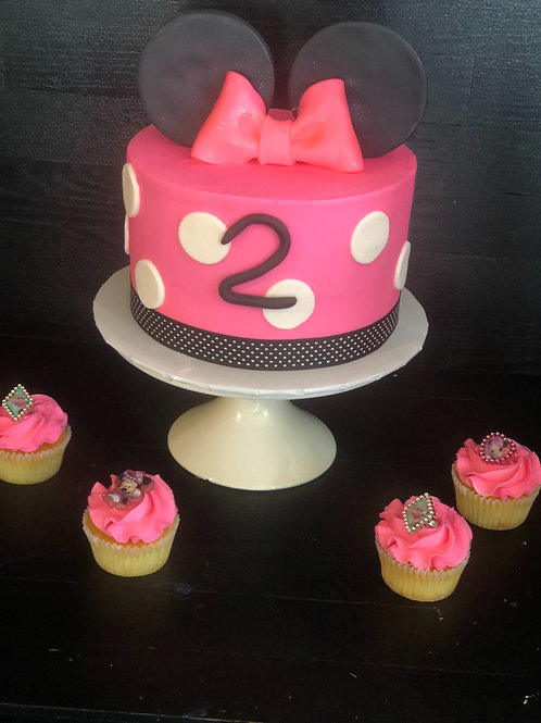 Themed Cake and 1 dz Cupcakes