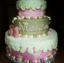 Winter Themed cake!!! ALL BUTTERCREAM Bo