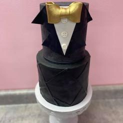 black and white bow tie cake.jpg