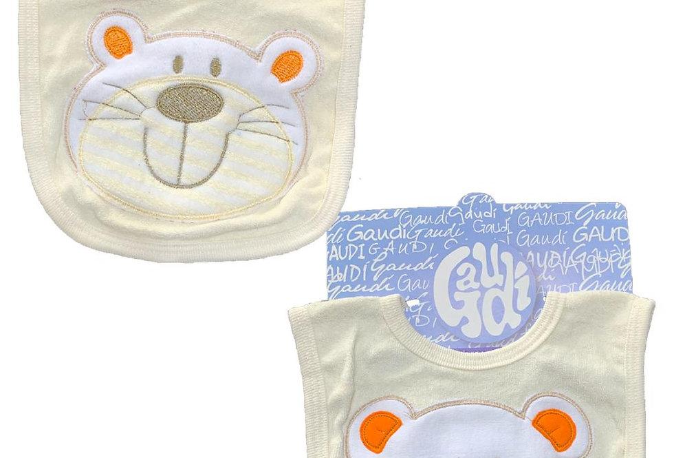 Babero tawel carton bordado