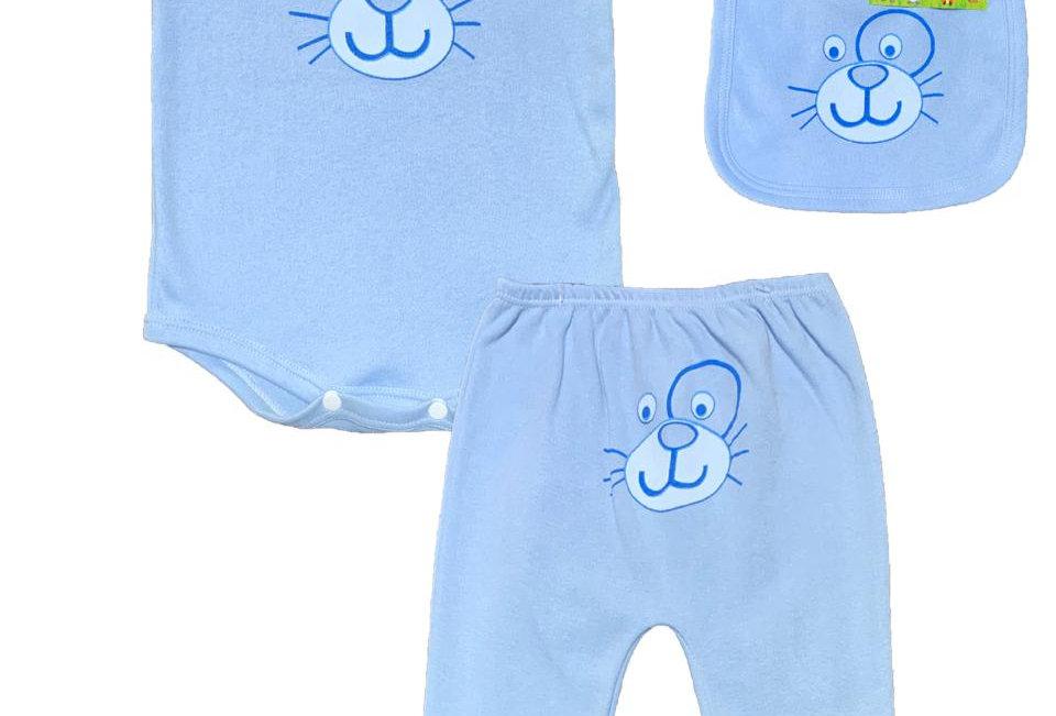 Set 3 piezas: Body - Pantalón y Babero