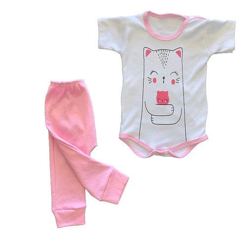 Conjunto x2 body manga corta + pantalón *3 talles