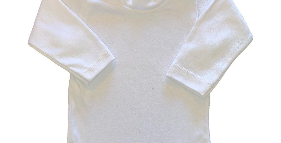 Camiseta 2 broches lisa Blanca