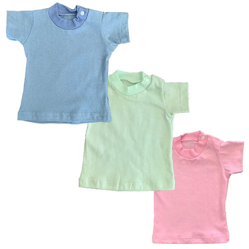 Remera bebe lisa con broche