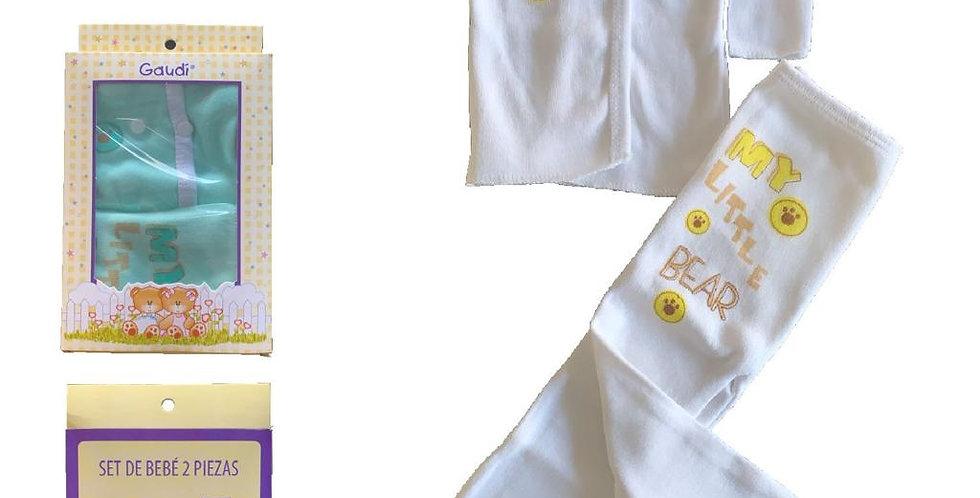 Caja de  2 piezas con estampa  talle GRANDE