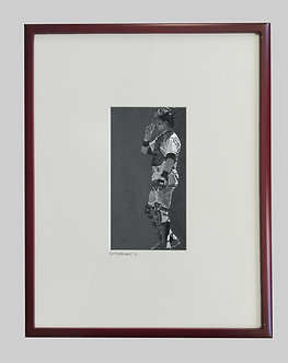 All in A Day's Work  Luminage 8.5 x 4.5 Framed 14 x18 RedSoxRed