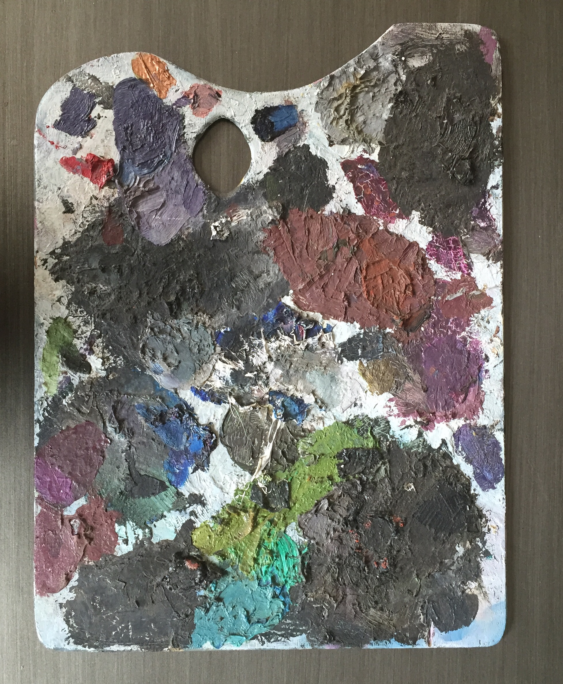 Artist's palette for Ode To Manet
