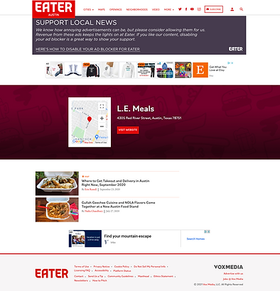 Eater - LE Meals Page