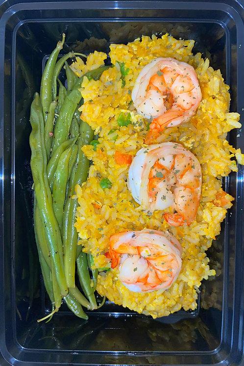 Mardi Gras Fried Rice Plate