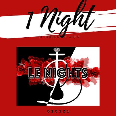 1 Night Pass
