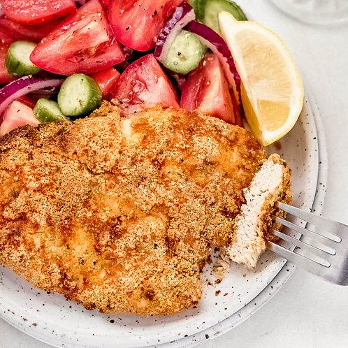 Crispy Keto Chicken Schnitzel