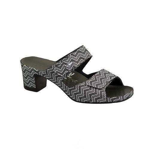 Breath Schwarz Vital Women's Sandals Black and White Slip On Sandals