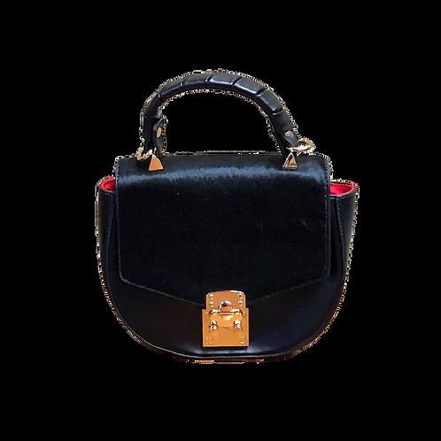 Sondra Roberts Black Cowhide leather handbag crossbody bag A10077/F16BK
