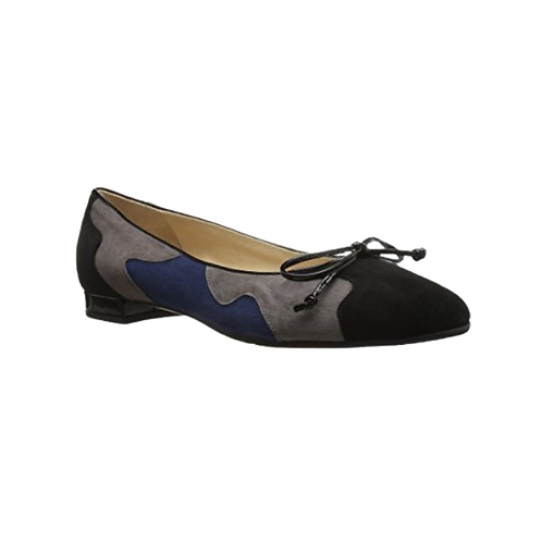 Ginevra Flats Amalfi by Rangoni Blue Black and Grey