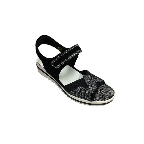 Marla Wadlaufer Hakura Black and White Women's Sandal