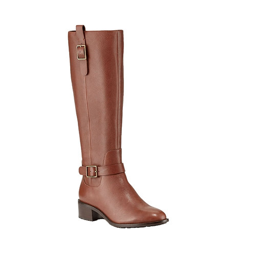 Kenmare Colehaan Riding boot brown leather Cole Haan