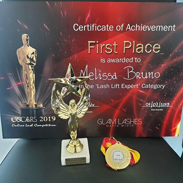 Melissa Bruno vincitrice OSCAR 2019 (categoria Expert Lash Lift)
