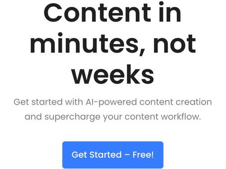 Outil de création de contenu avec l'intelligence artificielle