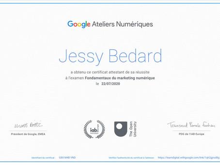 Certification Google sur les fondamentaux du marketing numérique