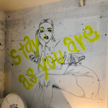 focarena in toilet wall art