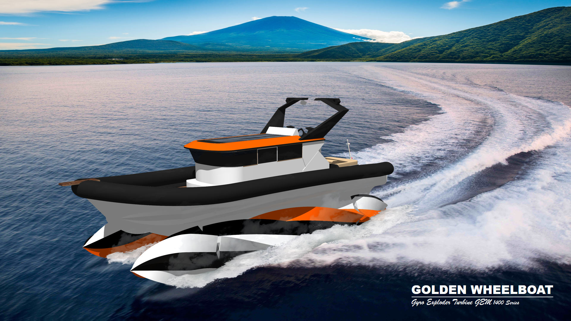 Golden Wheelboat Gyro Exploder Turbine GEM 1400 Series IMG1