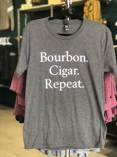 Bourbon Cigar Repeat Short Sleeve T-Shirt