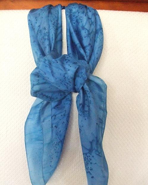Carré -soie -bleu