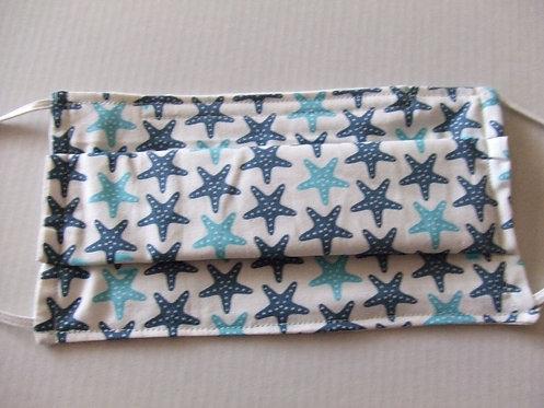 Masque -barrière alternatif- étoile de mer turquoise