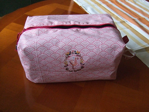 Trousse toilette - Rugby - ecaille rose