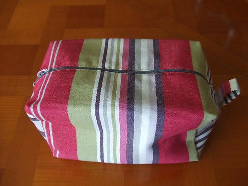 Trousse toilette- tissu basque- doublé