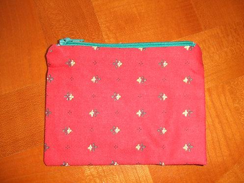 Porte monnaie - tissu - rouge