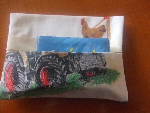 Etui à kleenex- motifs tracteurs