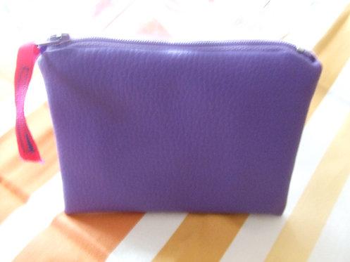 Porte monnaie - skai violet