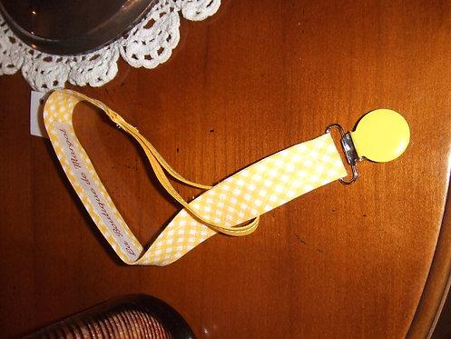 Accroche tétine - jaune