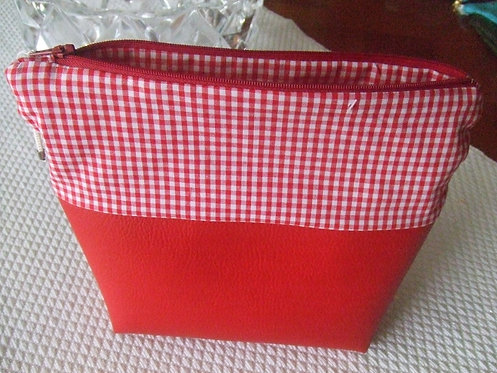 Trousse de toilette - Bella - Rouge & vichy - retro