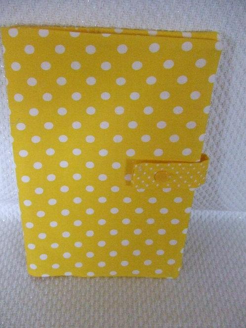 Protège carnet de santé- jaune à pois