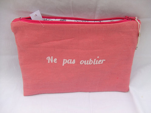 Trousse - maquillage - week end - lin rose