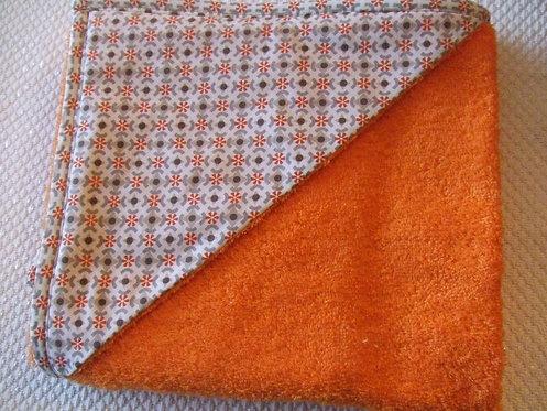 Sortie de bains  orange modèle Danya