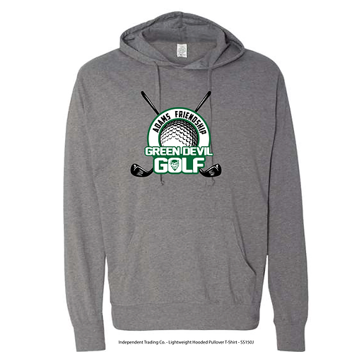 AF GOLF Independent Trading Co. - Lightweight Hooded Pullover T-Shirt
