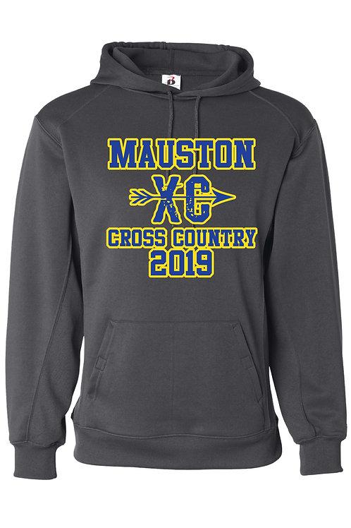 Mauston CC Badger Brand Performance Hoodie - Graphite Grey