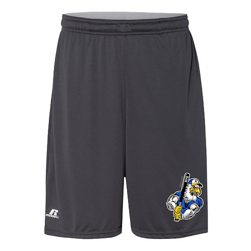 """Russell Athletic - ADULT Essential Pocketed Shorts 10"""" TS7X2M - Embroid"""