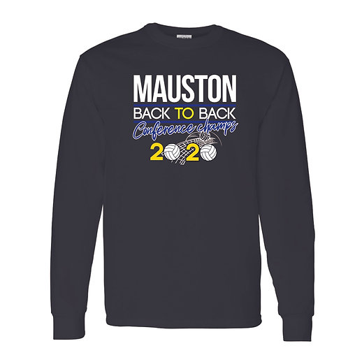 MaustonVolleyball Conference Champs LS Tee