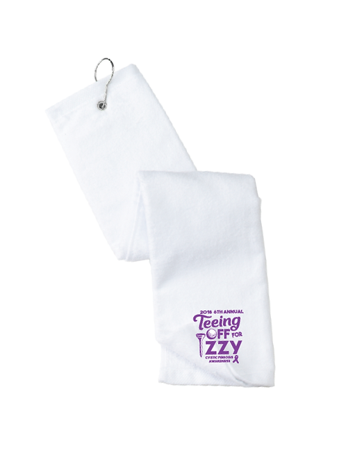 VELOUR HEMMED GOLF TOWEL WITH HOOK & GROMMET