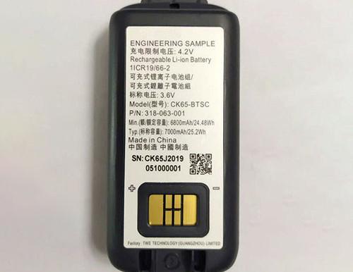 3.6V/4.2V Honeywell CK65-BTSC Dolphin CK65 CK3 pour Honeywell 318-063-001