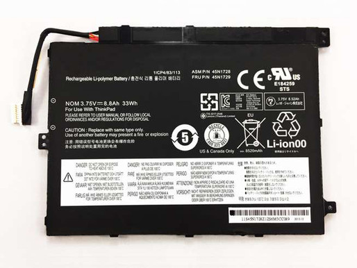 33Wh Lenovo ThinkPad Tablet 10 pour Lenovo 45N1727