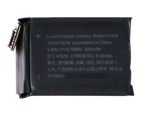 0.78Whr/205mAh Apple Watch Series 1 (38mm) pour Apple A1578