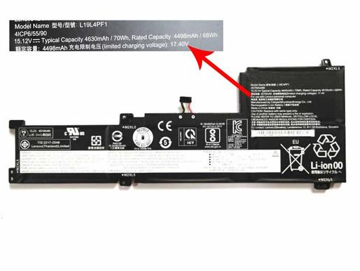 66Wh/4510mAh Lenovo Ideapad 5-15IIL05 Xiaoxin 15 2020 pour Lenovo L19C4PF1