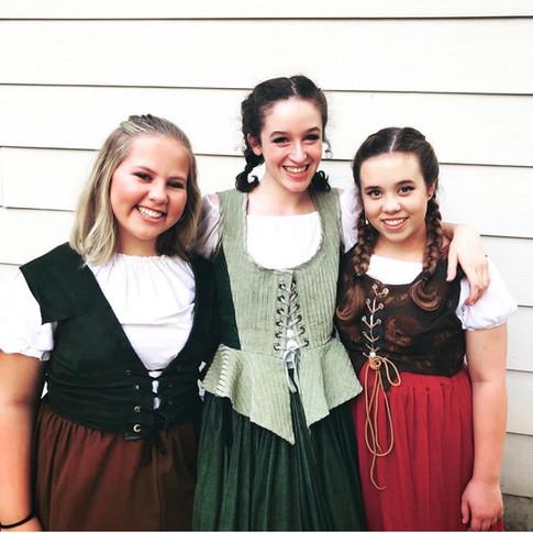 Sophie, Grace, & Chloe in Young Frankenstein
